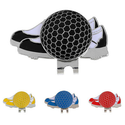 Portable Stainless Steel Shoe Design Magnetic Golf Hat Clip and Ball Marker