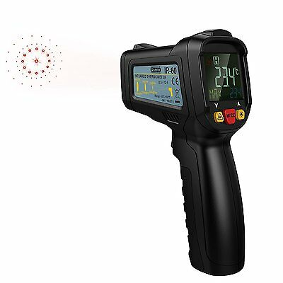 Dr.meter FDA Approved Non-Contact Digital Laser IR Infrared Thermometer Gun,With