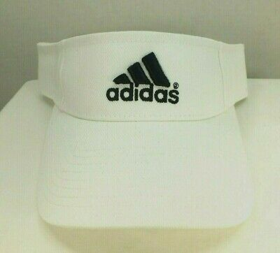 VINTAGE adidas  WHITE SUN VISOR 90'S  Adjustable HAT NEW CAP BY adidas