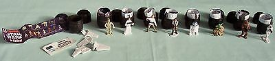 STAR WARS  Tombola  Egg Miniature Figurines & Ship Lucasfilm c1997 x 9