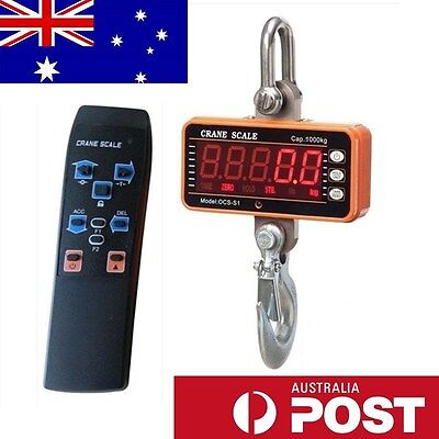 1000Kg/1T Electronic Crane Scales Digital Industrial Medical Hook Hanging Weight