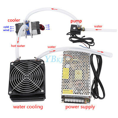 Thermoelectric Peltier Refrigeration 2*TEC1-12706 Radiator Water Cooling System