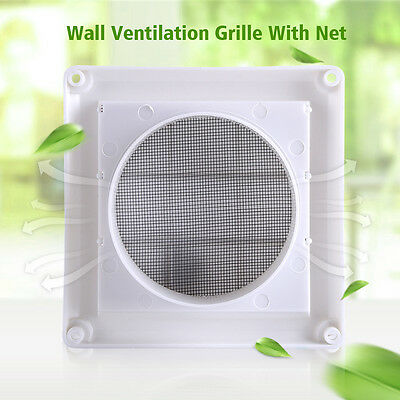 Plastic Air Vent Grille Cover 3 Flaps Wall Duct Ventilation Grill With Net New S