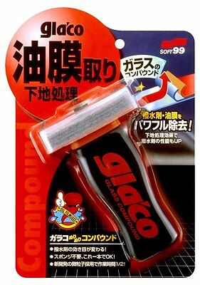 SOFT99 Glaco treating compound 100ml 04101 for window oil film remover frm Japan