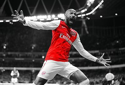 THIERRY HENRY - ARSENAL FC - A1/A2/A3/A4 taille poster imprimé