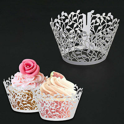 20/40/80/100pcs Luxury Wedding Sweet Cake Individual Cupcake Boxes Favor Favours
