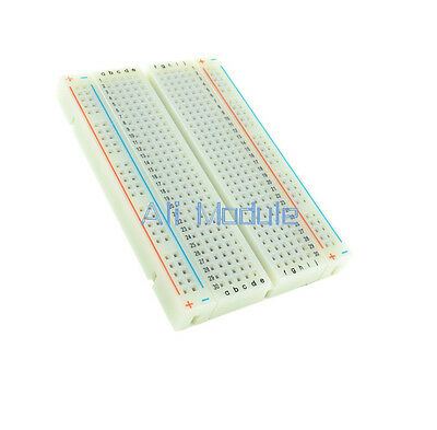 2PCS Mini Universal Solderless Breadboard 400 Contacts Tie-points Available AM