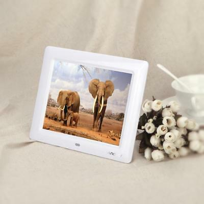 """7"""" HD TFT-LCD Digital Photo Picture Frame Alarm Clock MP3/4 Movie Player+Contorl"""
