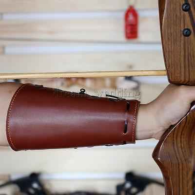 Brown Cow Leather Archery Arm Guard Traditional Forearm Protector