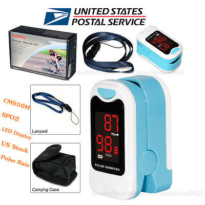 US Seller Finger Tip Pulse Oximeter SPO2 Pulse Rate Heart Blood Oxygen Meter LED