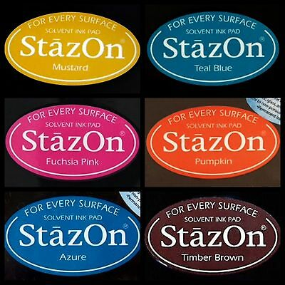 STAZON FULL SIZE INK PADS - you choose one colour - six colours to choose from