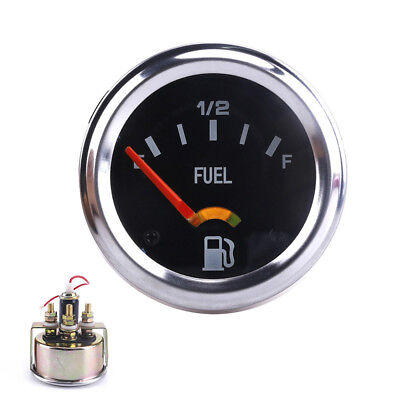 "2"" 52mm Mechanical Car Fuel Level Gauge 12V Meter without Sensor E-1/2-F Pointer"