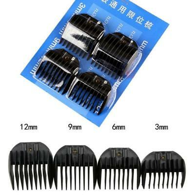 Set of 4 Electric Hair Professional Clipper Trimmer Guide Comb Attachment