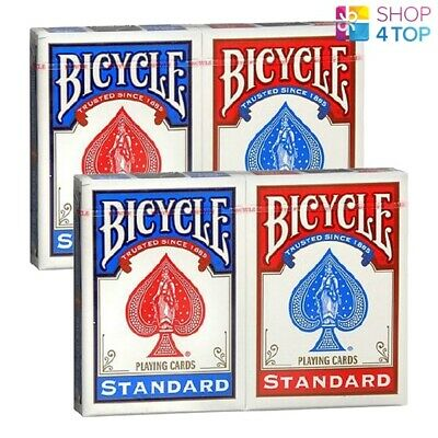 6 Decks Bicycle Rider Back Standard Index Playing Cards 3 Red 3 Blue Box Uspcc