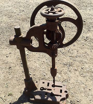 Antique Cast Iron Drill Garden Ornament Made In England