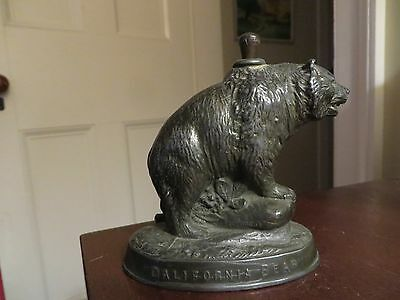 antique old metal striker lighter bear PPIE California 1915 souvenir EXPO