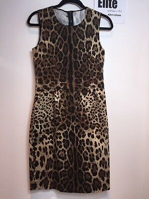Dolce & Gabbana Women's Animal Print Dress, Size 10 / 42