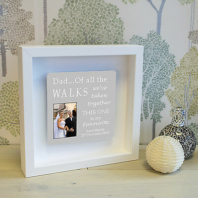 Personalised Photo Message Shadow Frame Father Of The Bride