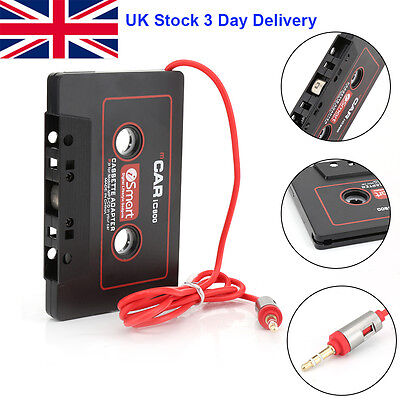 Audio AUX Car Cassette Tape Adapter Converter 3.5MM For iPhone CD MP3 Android UK