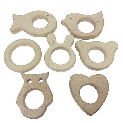 Wooden Animal Bird Ring Baby 1 PC Handmade Natural Shower Gift Teether