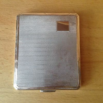 Solid Sterling Silver Smith & Bartlam Birmingham 1946 Cigarette Case