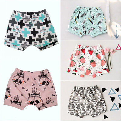 Newborn Toddler Baby Girls Summer Casual Bottoms Short Pants Bloomers 0-4Y