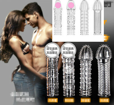 Flexible Silicone spike Condom Reusable Quality Type Permanent Bump Enhance Hot