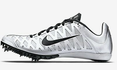 Nike ZOOM MAXCAT-4 MEN'S SPRINT SPIKE SHOES,WHITE/BLACK- Size US