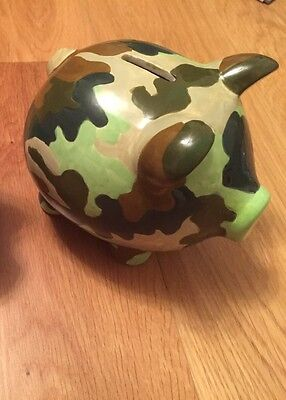M&S Percy Pig Piggy Bank / Money Bank. Khaki Limited Edition