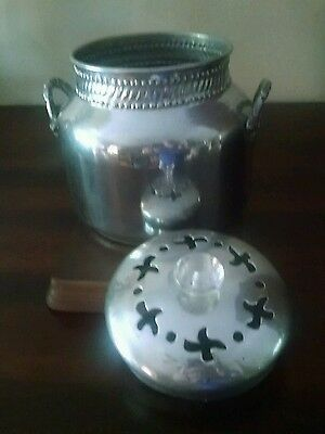 Potpourri Aluminum Container with Lid and Handles