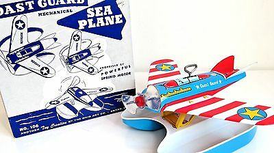Vintage 1950 OHIO ART Coast Guard Sea Plane -Near Mint Working- With Box