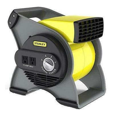 Stanley Utility High Velocity Carpet Dryer Blower Floor Fan Janitorial Yellow
