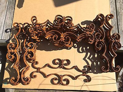 18 Antique Vintage Salvage Rusted Cast Iron Architectural Fence Gate Inserts