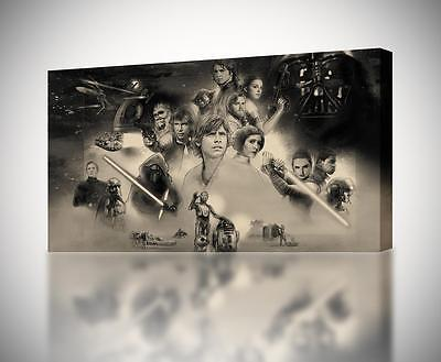 Star Wars Artwork CANVAS PRINT Home Wall Decor Giclee Art Poster CA609