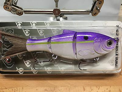 "KDS Custom Slow Sinking Jointed 5"" Multi Section Swimbait - Lavender Shad"
