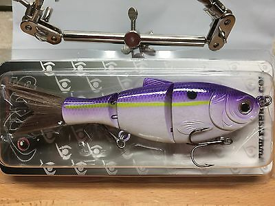 "KDS Custom Slow Sinking Jointed 5"" Multi Section Swimbait - Black Lavender Shad"