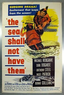The Sea Shall Not Have Them - Dirk Bogarde - Original Usa One Sheet Movie Poster