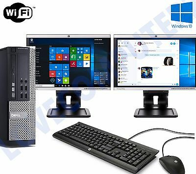 Dell Dual Screen OptiPlex SFF Fast cheap Desktop Core i5 8GB 500GB Windows 10