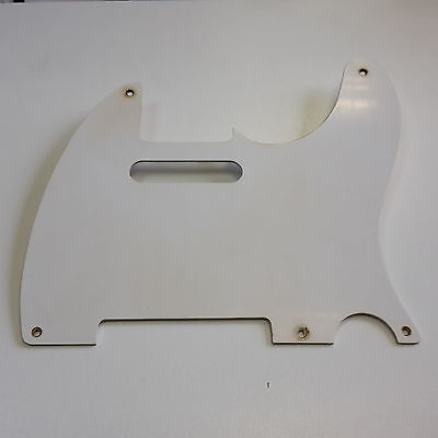Aged 50ties Tele Pickguard White 1 Ply fits to Tele ®