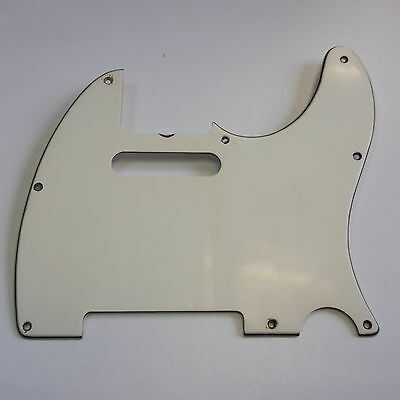 Aged 68 Tele Pickguard White 3 Ply fits to Tele ®