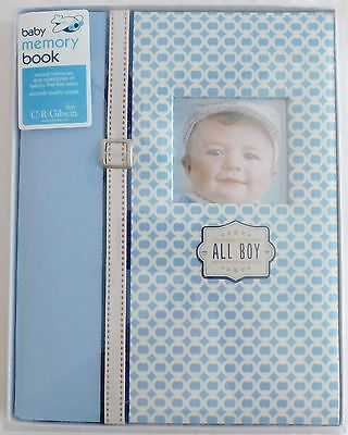 C.R. Gibson Baby First 5 Years Memory Book Baby Boy, ALL BOY Blue NEW