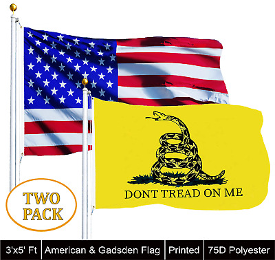 Wholesale LOT of 3' X 5' USA AMERICAN & 3x5ft Dont Tread on Me Gadsden Flag