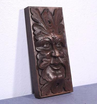 9 Amp French Antique Hand Carved Oak Wood Trim Salvage Of A Man S Face Salvage Cad 180 81