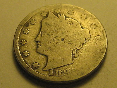 "1889 Liberty Head ""V"" Nickel Weak, Scratches"