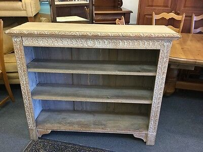 Solid Victorian Oak Adjustable Bookcase