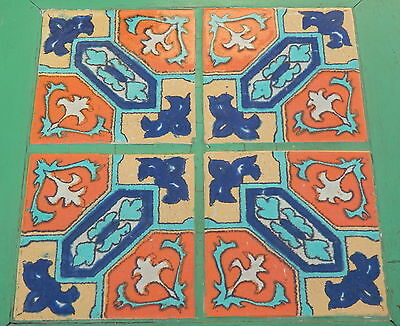 1930s Tudor Pottery tile and wood table Antique California Free Local Pick up