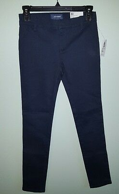 NWT Old Navy Girls 12 Uniform Jeggings Skinny Dress Pants NAVY BLUE #157717