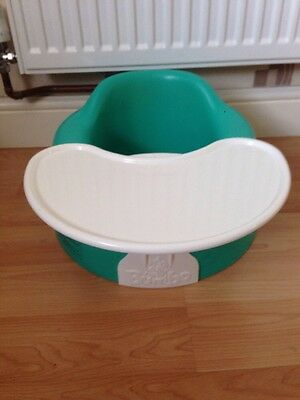 Bumbo Green Child's Seat with Straps and Tray