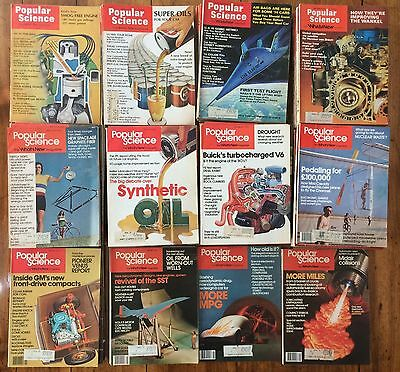 1970-1979 POPULAR SCIENCE MAGAZINE LOT OF 87 Some full years, Photos of all 87