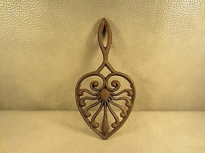 Vintage Cast Iron Trivet Holder Footed Stand